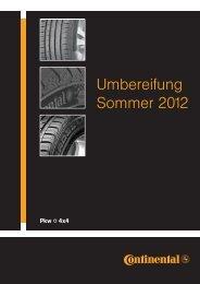 Montagegids zomerbanden 2012 - Continental