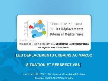 Les déplacements urbains au maroc, situation et ... - Euromedina
