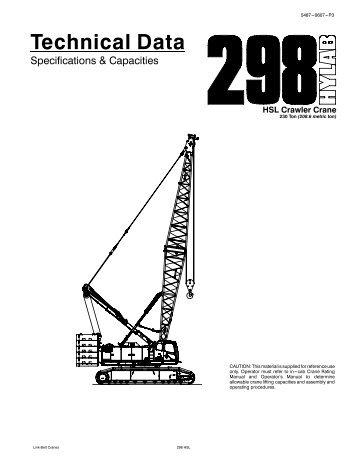 Link Belt LS-248 Crane Chart