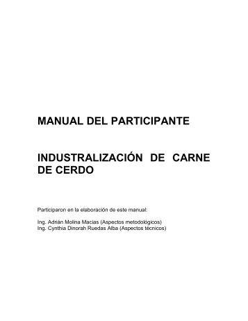 Industrializacion de carne de cerdo.pdf - Centro de Información de ...