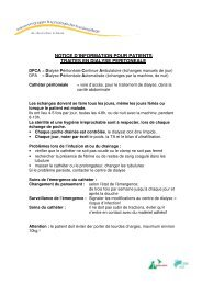 notice d'information pour patients traites en dialyse peritoneale
