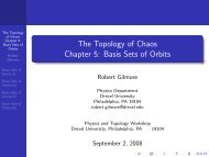 Basis Sets of Orbits - Department of Physics - Drexel University