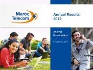 Annual Results 2012 - Maroc Telecom