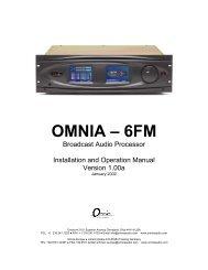 Omnia-6fm User's Manual v1.00 - bei Thum + Mahr!