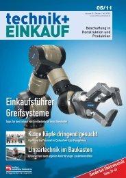 Ausgabe 5 / 2011 - technik + EINKAUF