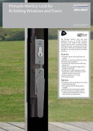 Pinnacle Mortice Lock for Bi-folding Windows and Doors