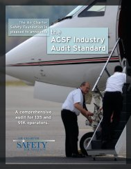 ACSF Industry Audit Standard - Air Charter Safety Foundation