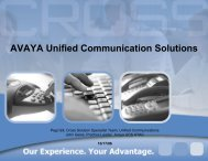 AVAYA Unified Communication Solutions