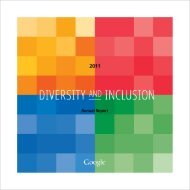 Google 2011 Diversity and Inclusion Annual Report