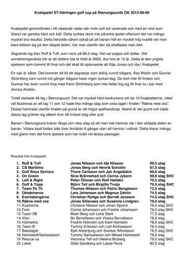 Resultat och bilder från Stenungsund GK 12-06 - ST tidningen