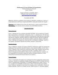 Outline para el Curso de Diseno de Experimentos Instituto ...