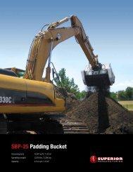 SBP-25 Padding Bucket - Worldwide Machinery