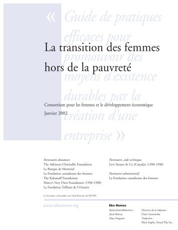 les moyens d'existence durables - Canadian Women's Foundation
