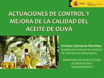 Actuaciones de control y mejora de la calidad del aceite de oliva