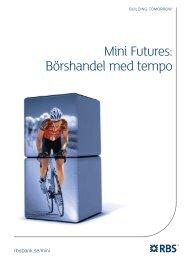 Mini Futures: Börshandel med tempo - RBS