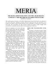 the bush administration and the arab-israeli ... - GLORIA Center
