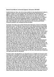 Universitet Uppsala, Schweden, Physik (A. Möchel), WS ... - Erasmus