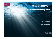 AUVs and ROVs Global Market Prospects - Oceanology International
