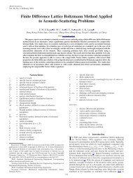 Finite Difference Lattice Boltzmann Method Applied to Acoustic ...