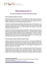 Media Backgrounder #1 on preterm infants in Europe - EFCNI