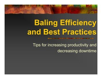 Baling Efficiency and Best Practices - Recycling Today