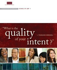 Admissions Brochure - Thurgood Marshall School of Law