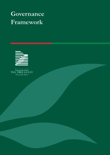 Section 2 Governance framework - City of Tea  Tree Gully