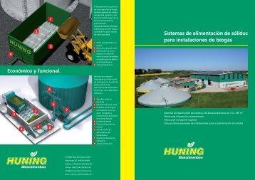 Sistemas de alimentación de sólidos para instalaciones de biogás