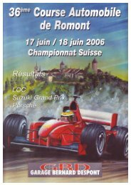 LOCaux - Course automobile de romont