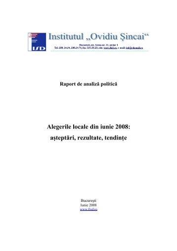 Alegerile locale din iunie 2008 - Institutul Social Democrat Ovidiu ...