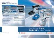 Batterien von Bosch: Startkraft für jedes Fahrzeug