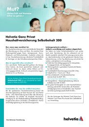 Haushaltsversicherung Selbstbehalt 200 - Helvetia