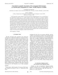 Generalized asymptotic description of the propagated field dynamics ...