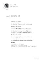 Ontwerp van decreet houdende de Vlaamse sociale bescherming ...