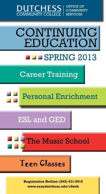 Spring 2013 - Dutchess Community College