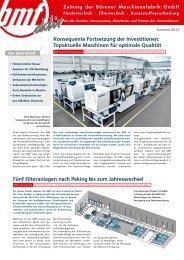 Topaktuelle Maschinen für optimale Qualit - Bürener ...