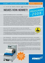 NEUES VON KOMET! - KOMET Maschinenfabrik GmbH