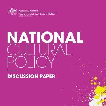 National Cultural Policy Discussion Paper - Creative Australia ...