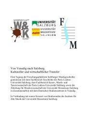 Programmheft - Schwerpunkt Wissenschaft und Kunst - Universität ...