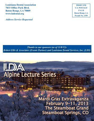 Alpine Brochure-2013-ODA.indd - Louisiana Dental Association
