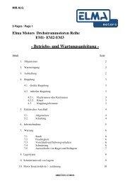 Betriebs- und Wartungsanleitung - Elma BV