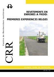 revetements en enrobes a froid: premieres experiences belges - CRR