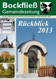 aktuelle Mitteilungen Folge 2/2013 - Marktgemeinde Bockfließ