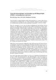 Generelle bemærkninger om forskning og udviklingsarbejde (FOKU ...