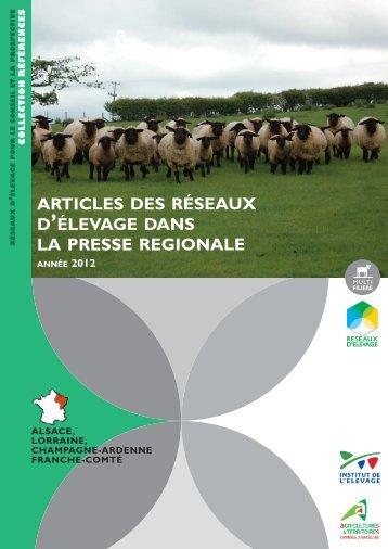Revue de presse 2012 - Chambre d'Agriculture
