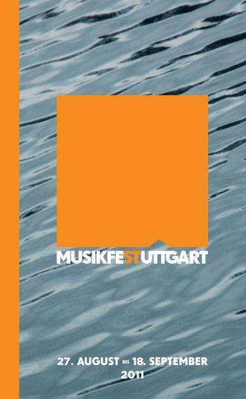 Ausführliche Broschüre Musikfest Stuttgart 2011 (pdf | 7,59