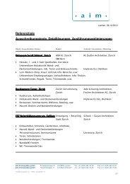 Referenzliste - Aim innenausbau gmbh