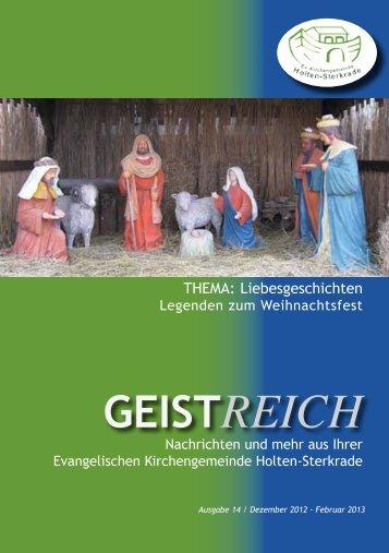 GeistReich 1/2013 - Evangelische Kirchengemeinde