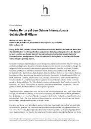 Hering Berlin auf dem Salone Internazionale del Mobile di Milano