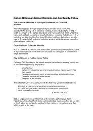 Sutton Grammar School Worship and Spirituality Policy